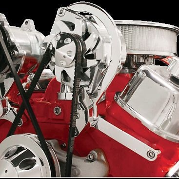 Big Block Chevy 396 427 454 Chrome Aluminum Alternator Bracket Short Water Pump
