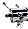 "Universal Chrome Tilt Floor Shift 32"" Steering Column with Key ignition ididit"