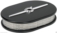 BILLET SPECIALTIES STREAMLINE SATIN BLACK ALUMINUM AIR CLEANER,SMALL OVAL,15324
