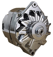 Chrome Alternator 120 amp gm single wire