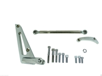 Alternator Bracket, Aluminum, Chrome, Cylinder Head Mount, Short Water Pump, Chevy, Big Block, Kit