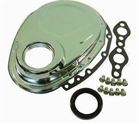 Chrome Steel Timing Chain Cover small block chevy kit