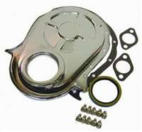 Chrome Steel Timing Chain cover big block chevy kit