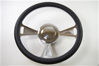 3-Tri Style-Chrome Aluminum Steering Wheel