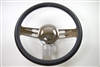 "14"" Chrome Aluminum steering wheel 3 slot GM chevy custom half wrap"