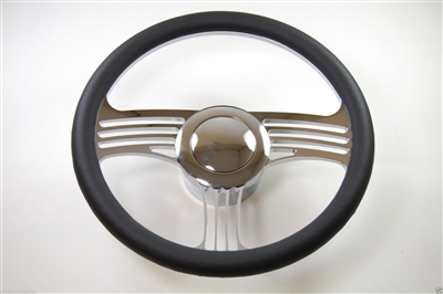 Chrome Aluminum Steering Wheel SLASH STYLE