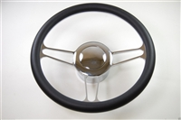 Chrome Aluminum Steering Wheel VINTAGE STYLE