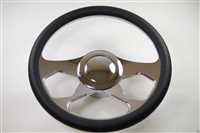 "Chrome Aluminum Steering Wheel 14"" REVOLUTION"