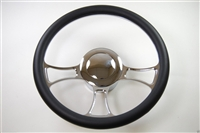 Chrome Aluminum Steering Wheel TRINITY