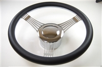 Chrome Aluminum Steering Wheel Banjo style