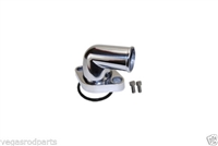Aluminum 90 degree Swivel Water Neck CHEVY