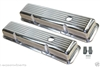 Chrome Aluminum Valve Covers BALL MILLED SMALL BLOCK CHEVY