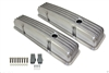 Nostalgic Aluminum Finned Valve Covers (baffled) small block chevy