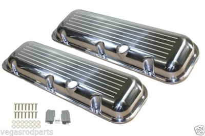 Aluminum Valve Covers BIG BLOCK CHEVY SHORT BALL MILLED
