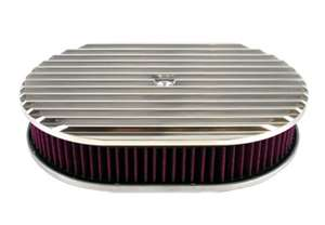 Finned Oval Air Cleaner Kits 12 inch finned washable element