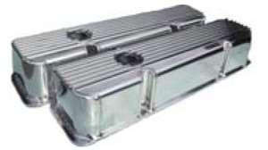 Finned Fabricated Valve Cover small block chevy fabricated