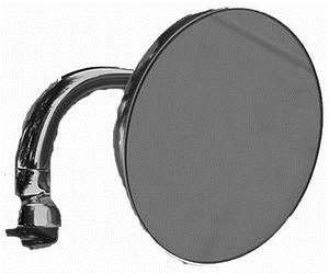 Chrome Steel Peep Mirror drivers side 4 inch