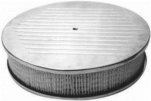 "Polished 14"" Ball-Milled Air Cleaner Set"