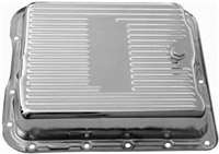 Transmission Pan gm 700R4 chrome with drain plug