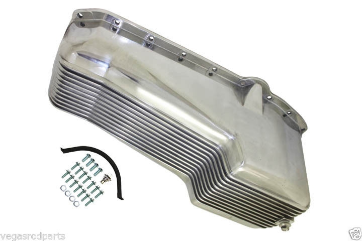 Polished Aluminum Stock Oil Pan Small Block Chevy Driver