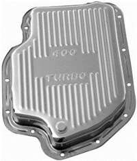 GM 400 Transmission Pan chrome steel with drain plug