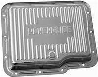 GM powerglide Transmission Pan chrome steel w/plug