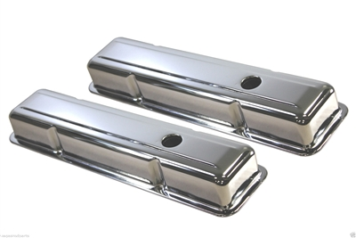 "Chrome "" TRI-FIVE"" Chevy Valve Covers"