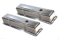 Small block Chevy Chrome Steel Valve Covers