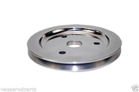 Small Block Chevy Polished Aluminum crank shaft Pulley single groove billet lower