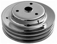 Small Block Chevy Triple Groove Crankshaft Pulley for long water pump