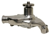 1955-78 CHEVY SMALL BLOCK ALUMINUM HIGH VOLUME SHORT WATER PUMP POLISHED