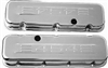 "Chrome Steel ""454"" Logo Valve Covers big blcok chevy 396-454"