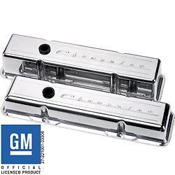 Billet Aluminum Small Block Chevy Chevrolet Tall Valve Cover 350 305 327 Script