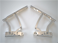 1968 CHEVELLE EL CAMINO BILLET HOOD HINGES Polished Aluminum
