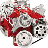 Small Block Chevy Top Mount Alternator & Power Steering serpentine Kit  Billet Aluminum