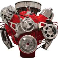 Big Block Chevy Top Mount Alternator & Power Steering serpentine Kit  Billet Aluminum