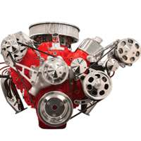 Big Block Chevy Top Mount Alternator with A/C & Power Steering serpentine Kit