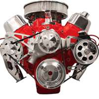 Big Block chevy Mid Mount Alternator & Power Steering serpentine  Kit