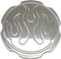 polished aluminum Radiator Cap flame