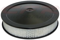 "CHEVY FORD MOPAR 14"" black STEEL AIR CLEANER SET round paper flat BASE"