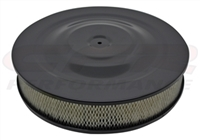 "CHEVY FORD pro 14"" BLACK STEEL AIR CLEANER SET recessed BASE paper FILT"