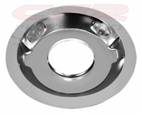 "STEEL AIR CLEANER 14"" ROUND 1-1/4"" DROP RECESSED BASE - Chrome"
