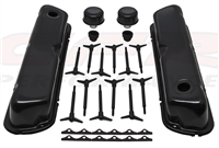 Small Block Ford black Engine dress up Kit 302-289-351w valve covers