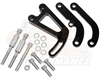 Small Block Chevy power steering Bracket Set long water pump 350 305 400 black
