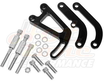 Small Block Chevy Power Steering Bracket Set Long Water