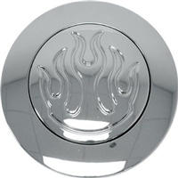 Horn Buttons Chrome Aluminum Plain smooth gm grant ididit billet chevy