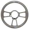 T full billet-style Chrome Aluminum Steering Wheel 14""