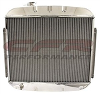 1955-57 CHEVY DIRECT FIT ALUMINUM RADIATOR DIRECT REPLACEMENT POLISHED NOMAD