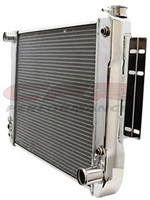 1967-69 CHEVY CAMARO DIRECT FIT ALUMINUM RADIATOR DIRECT REPLACEMENT POLISHED