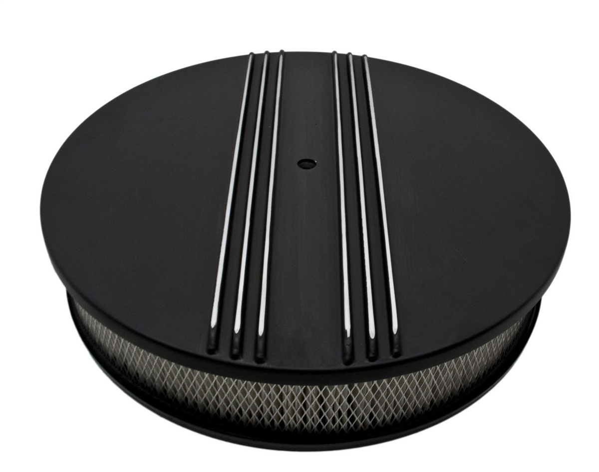 Mopar Air Cleaner Black : Chevy ford mopar quot round black aluminum air cleaner half